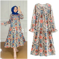 DRESS BANGKOK BATIK PATTERN /LAVINA DRESS IMPORT