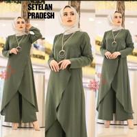 Baju Tunik Kulot setelan/busana/fashion muslim Size M tunik + kulot
