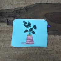 painted pouch anggraini craft. dompet pouch lukis - plantae 5