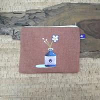 painted pouch anggraini craft. dompet pouch lukis - plantae 6