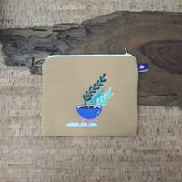 painted pouch anggraini craft. dompet pouch lukis - plantae 2