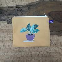 painted pouch anggraini craft. dompet pouch lukis - plantae 9