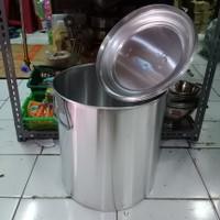 Panci Dandang Polos Alumunium 35cm / Dandang Bubur/Soto 35cm.via oj