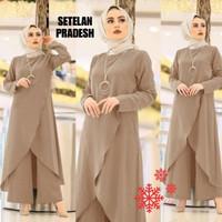 Baju tunik setelan/fashion muslim ukuran M tunik + kulot