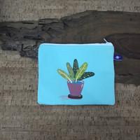 painted pouch anggraini craft. dompet pouch lukis - plantae 8