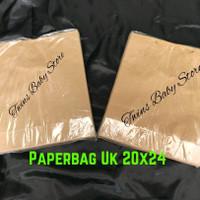 paperbag coklat polos uk 20x24 isi 12 pcs