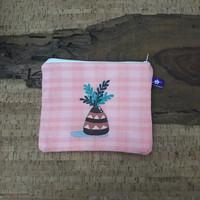 painted pouch anggraini craft. dompet pouch lukis - plantae 4