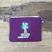 painted pouch anggraini craft. dompet pouch lukis - plantae 1