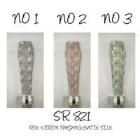 Indah Kebaya   SR 821   Bawahan Rok Wiron Panjang Batik Silk Supplier