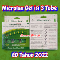 Microlax Gel isi 3 Tube @ 5 ml Obat Pencahar Sembelit Pelancar BAB 5ml