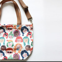 tote bag faces ideku handmade