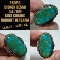 pirus persia urat emas dwi warna porcelain natural turquoise