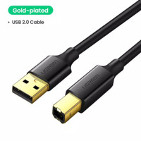 Kabel Printer Scanner Usb 2.0 3.0 Male to Usb Type B Male High Quality - GOLD 2.0-1M