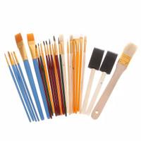 Kuas Lukis Cat Air Akrilik Set 25 pcs Oil Paint Brush