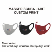 Masker scuba custom logo / sablon / print logo