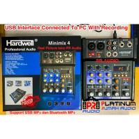 Mixer Audio HARDWELL Minimix 4 ORIGINAL USB Bluetooth Recording To PC
