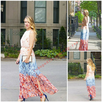 H&M Consious Floral Long Maxi Dress Chiffon