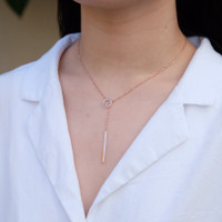 Drop chain necklace rosegold