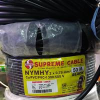 Kabel NYYHY 2x0.75 mm Serabut Supreme @50 mtr