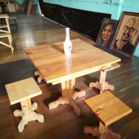 Set Meja Makan Kayu Jati Belanda (Pinus) Furniture Semarang Jepara
