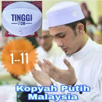 Kopyah Putih Songkok Putih Peci Putih Model Malaysia