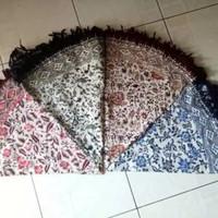 Promo! Taplak Meja Tamu Batik Bundar Bulat