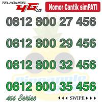Nomor Cantik Simpati telkomsel 4G LTE seri 0812 800 xx 456