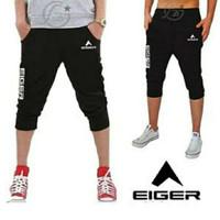 Celana Bawahan 3/4 Jogger Sweatpants Training Pria | Eiger Hitam Sport