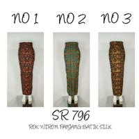 SR 818 Bawahan Rok Wiron Panjang Batik Silk Supplier Bawahan Rok Murah