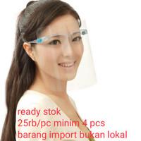 kacamata pelindung virus / face shield / safety google / orbital mask