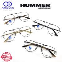 frame kacamata pria wanita hummer vintage titanium 808 Original
