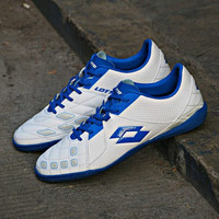 Sepatu Futsal Lotto Squadra IN Blue white