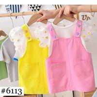 Ready Stock Setelan Baju Anak Import Cute Top Baloom Summer + Dress