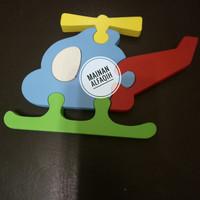 Mainan Edukasi Kayu Puzzle Kait Holikopter