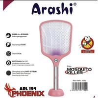 Raket Nyamuk ARASHI 194 Phoenix 2 Fungsi Bisa Perangkap Nyamuk ARL 194