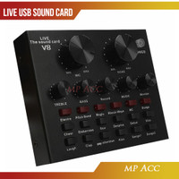 Audio USB External Soundcard Live Broadcast Microphone Bluetooth V8s