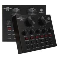 Audio USB External Soundcard Live Broadcast Microphone Headset V8