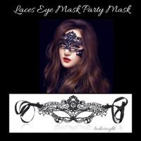 Topeng Pesta Renda Laces Eye Mask Halloween Party Costume
