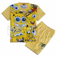 Baju Setelan Anak Spongebob 1-10 tahun - Murah Keren Viral - 2 Tahun