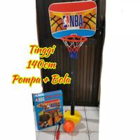 Set Ring Basket Anak Edukasi Mainan Bola Edukatif Olahraga Basketball