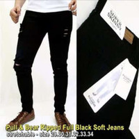 Celana Jeans Pria Skinny Casual Ripped p&b