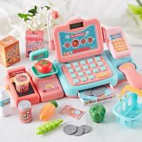 Mainan Kasir Anak - Mainan cashier register playset - Orange