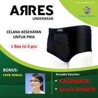 ARRES Underware - Celana Dalam Pria untuk Kesehatan, bonus gelang - M