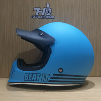 helm JPX Retro Signature solid Light Blue Matt