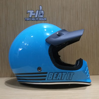 helm JPX Retro Signature solid Light Blue gloss