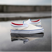 Sepatu Pria VANS Classic Slip On Outside In Natural 100% Original BNIB