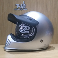 helm JPX Retro Signature solid Silver gloss