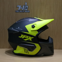 JPX fullface MX X726-R Black Yellow Black Matt