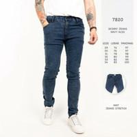 Celana jeans pria Casual Style Skinny P&BNavy acid