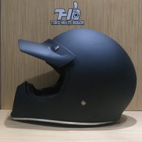 helm JPX Retro Signature solid Black Matt